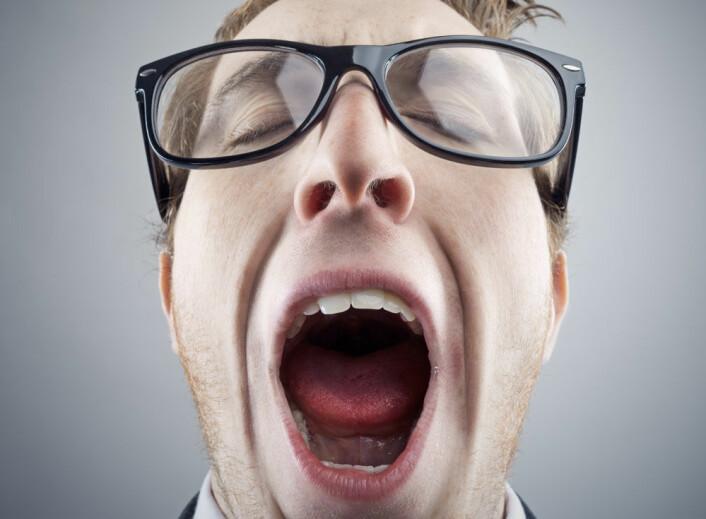 Du kan gjespe spontant dersom du er trøtt eller kjeder deg. Men du kan også bli smittet av andres drøvelframvisning. (Foto: stokkete)