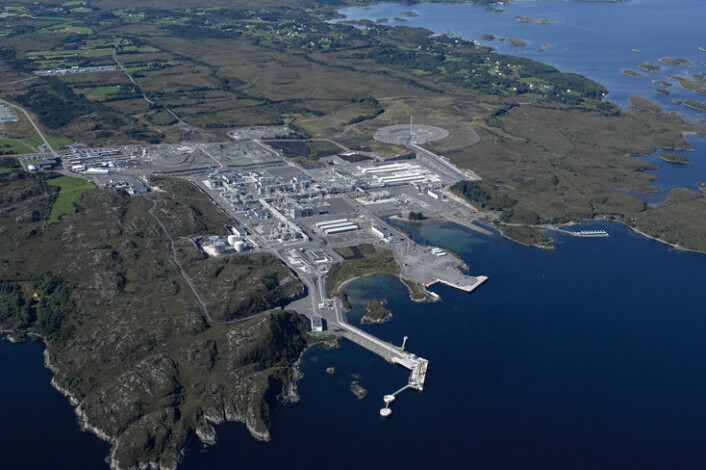 Nyhamna alene har rundt 520 årsverk. (Foto: Øyvind Leren, Shell)