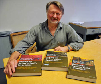 - Nå er arbeidet publisert, fastslår Victor Melezhik. Han er svært tilfreds med resultatet. (Foto: Gudmund Løvø/NGU)