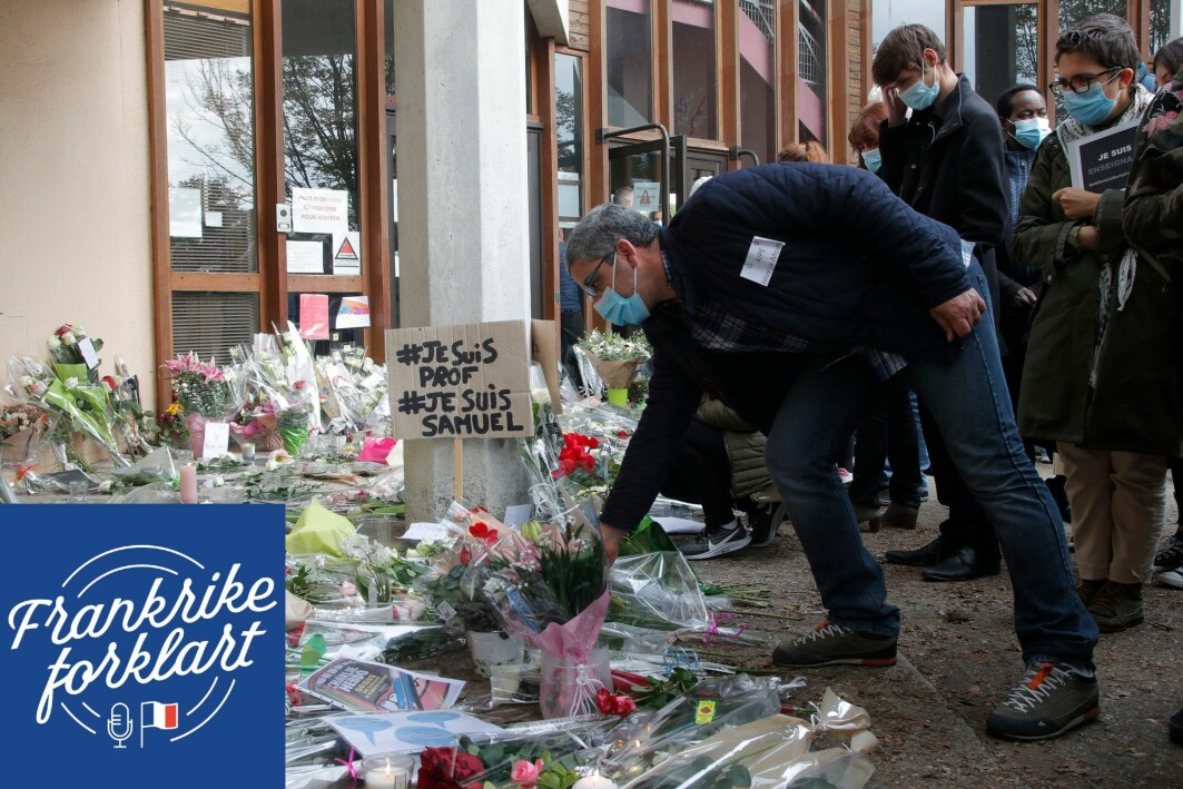 Den 47 år gamle læreren Samuel Paty ble drept av en islamistisk terrorist i oktober 2020.