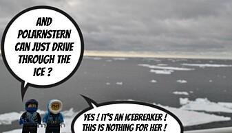 Legoninjaen og Dr. Darelius i Lego på Polarstern