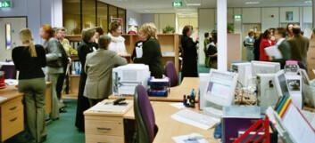 """""""Fra kontoret til UK Resource Center for Women in Science, Engineering and Techology i Bradford. (Foto: Roger Livesey)"""""""