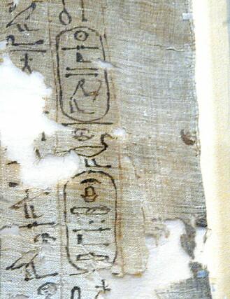 Utdrag fra liksvøpet til faraoen