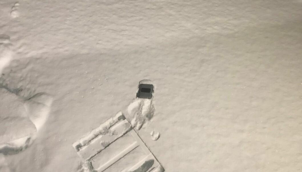 Bøye på isen