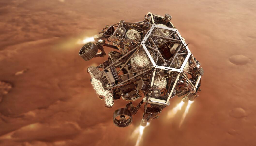 Roboten Perseverance landet torsdag kveld på overflaten av Mars.