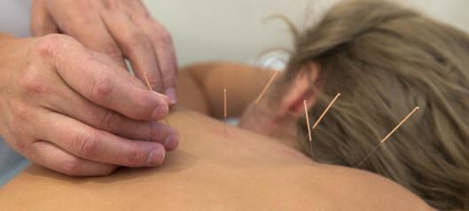 Akupunktur kan være et alternativ til antibiotika mot urinveisinfeksjoner