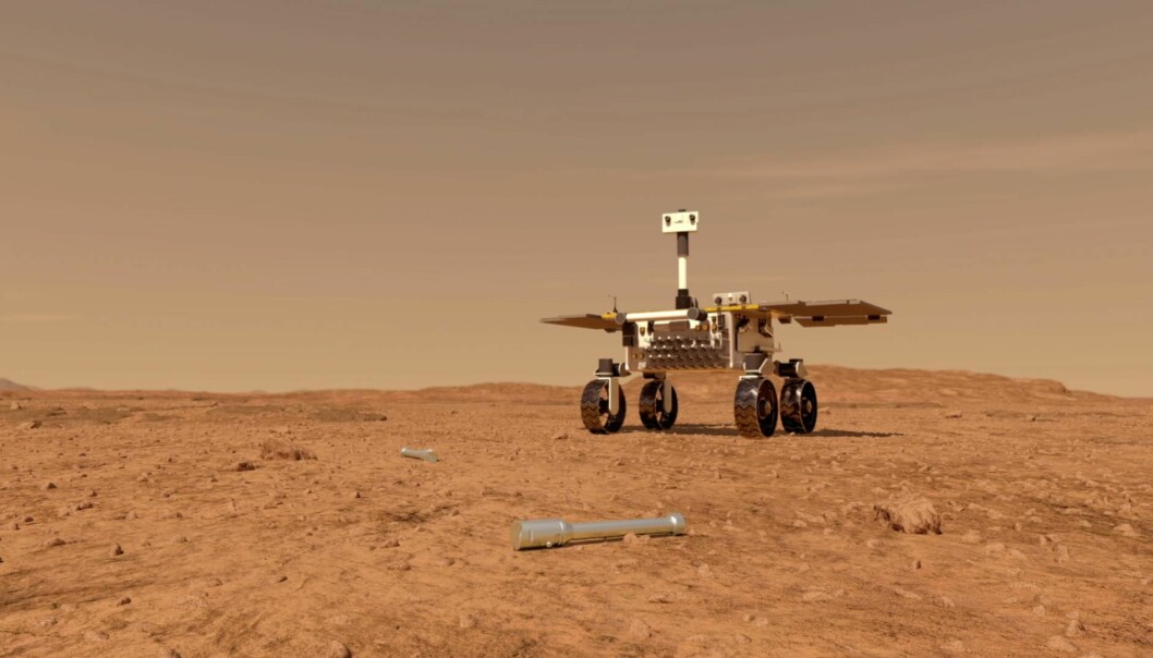 En liten rover kan plukke opp prøvene, for så å flytte de til en rakett på Mars-overflaten.