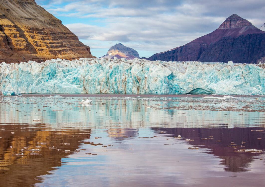 Kronebreen i Kongsfjorden på Svalbard.