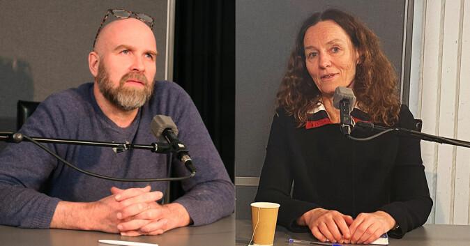 Helge Jordheim og Camilla Stoltenberg er gjester i en ny episode av podkasten Universitetsplassen.