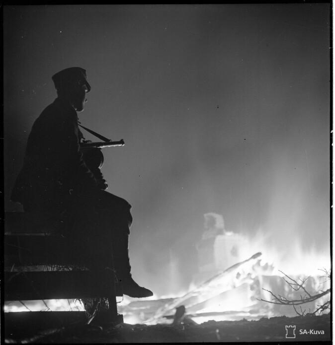 Den finske landsbyen Muonio ble satt i brann av tyskerne i oktober 1944.