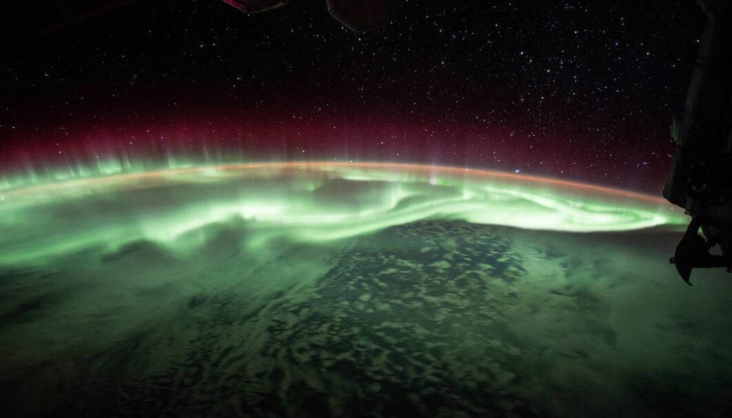 Nordlys sett fra den internasjonale romstasjonen.