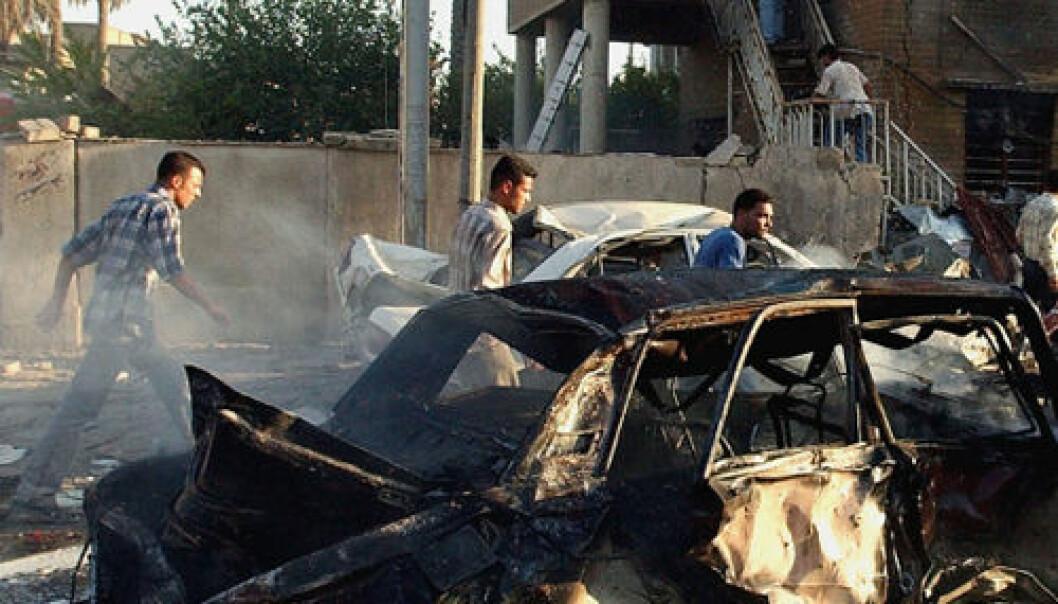 Ødeleggelser etter bombe, Irak 2004. iStockphoto.com