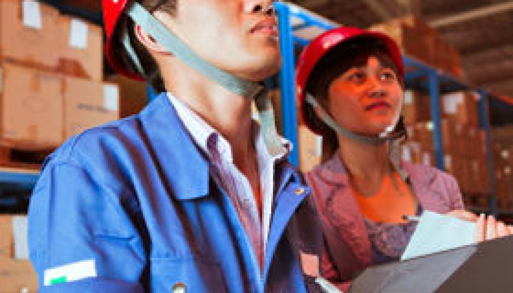 Kina, personell på lager. iStockphoto