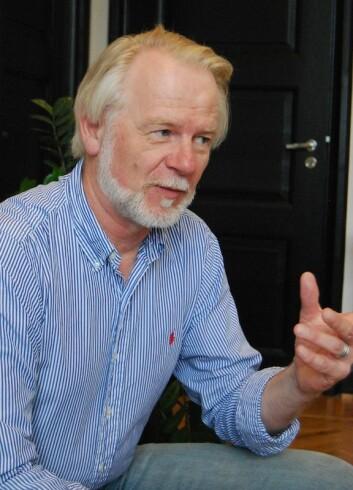 Olvar Bergland mener det er sannsynlig med lave strømregninger de neste årene. (Foto: Hanne Østli Jakobsen)