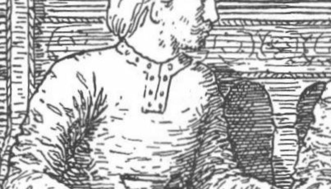 Ifølge Snorre skal Harald Hardråde ha grunnlagt Oslo. (Illustrasjon: Snorre Sturluson: Heimskringla, J.M. Stenersen & Co, 1899)