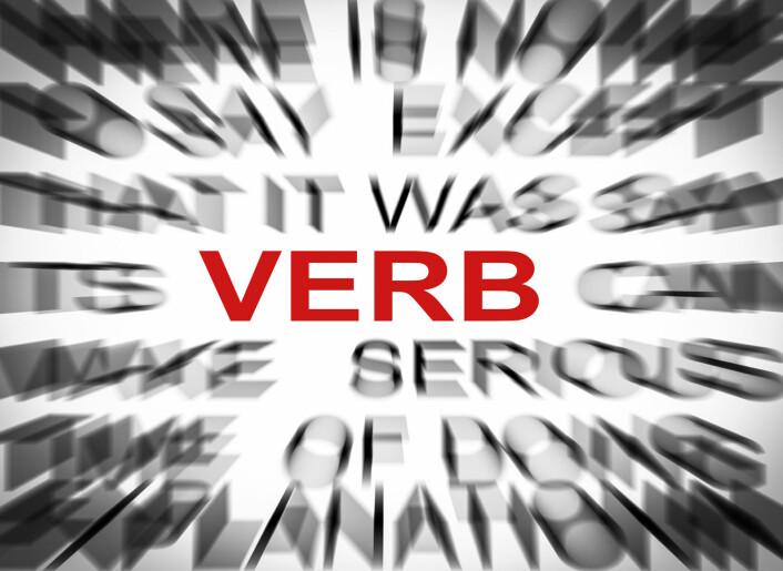 Hvorfor står verbet der det gjør i setningen? Det skal Christine Meklenborg Salvesen bruke de neste årene på å finne ut. (Foto: Colourbox)