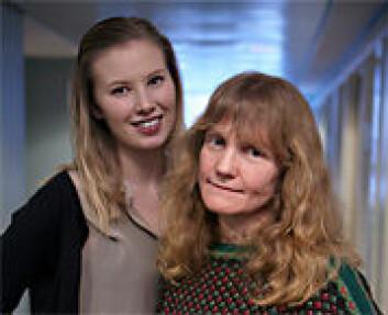 Hallgjerd Aksnes (t.h.), professor ved Institutt for musikkvitenskap ved UiO, og master Ragnhild Torvanger Solberg. (Foto: Annica Thomsson)