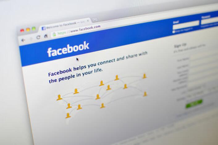 Facebook er viktig for unge pasienter. (Foto: Shutterstock)