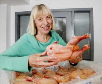 Anna Haug har sammenlignet kjøtt fra kyllinger fôret med vanlig kyllingfôr med fôr tilsatt rapsolje og linolje. (Foto: Håkon Sparre/UMB)