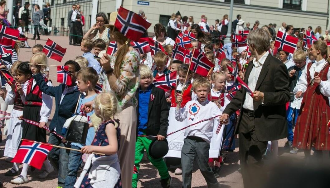 Barnetoget i Oslo 17. mai blir nå forsket på som del av grunnlovsjubileet i 2014. Audun Braastad/NTB Scanpix