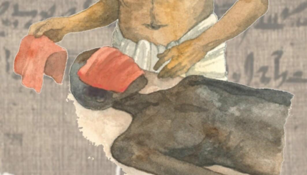 Behandlingen som står beskrevet har trolig hatt en antibakteriell effekt, tror egyptolog.