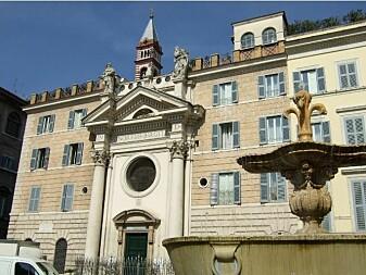 Den hellige Birgittas hus i Roma hvor Olaus Magnus bodde og installerte trykkeri.