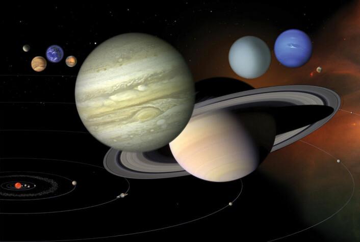 Man har visst at planetene beveget seg i flere tusen år. (Illustrasjon: NASA-JPL)
