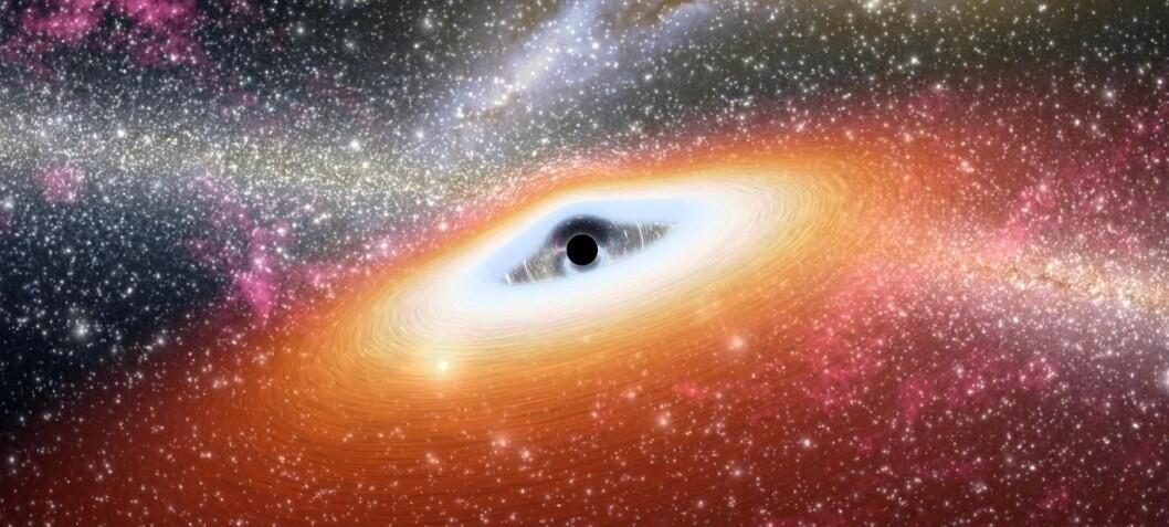 Forskere foreslår at supermassive svarte hull kan være laget av mørk materie