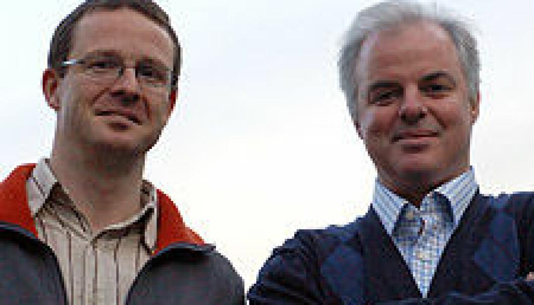 """""""Børge A. Kristoffersen og Roderick Nigel Finn. (Foto: Lars Holger Ursin)"""""""