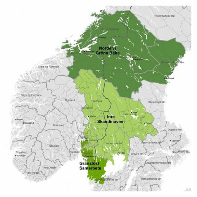 I grenseland: Indre Skandinavia er ett av tre områder som inngår i det EU-baserte samarbeidsprogrammet Sverige-Norge.