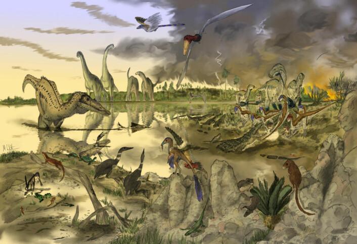Dinotegnerne kan virkelig bringe fortidens kjemper tilbake til live i sine illustrasjoner. Men har de plikt til å formidle et riktig bilde, i tillegg til et som er estetisk sett bra? (Foto: (Illustrasjon: Mark Witton/Flickr Creative Commons))