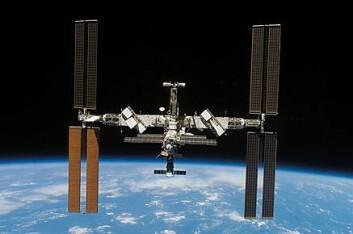 """""""Den internasjonale romstasjonen. Foto: NASA"""""""