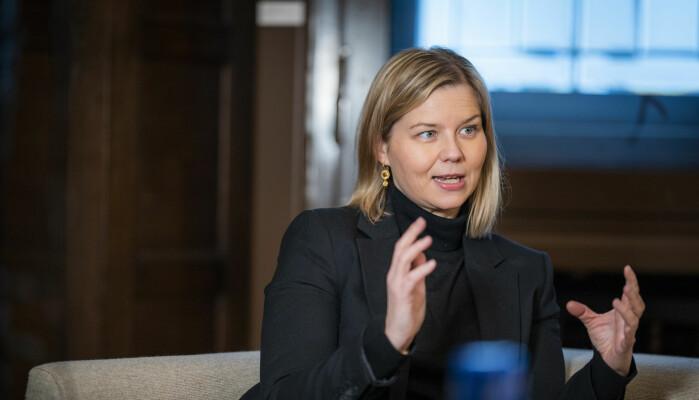 Kunnskapsminister Guri Melby, partileder i Venstre.