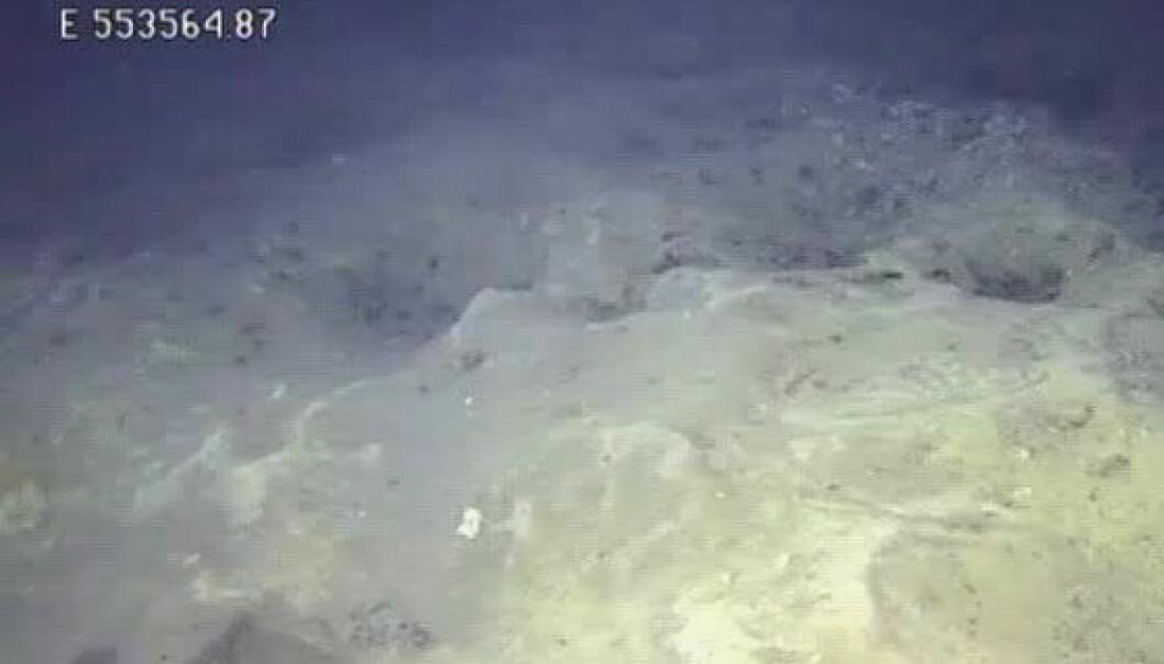 Den ubemannede ubåten over krateret på bunnen av Barentshavet. Akvaplan-NIVA