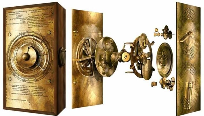 Slik mener forskere at Antikythera-mekanismen kan ha vært satt sammen og sett ut.