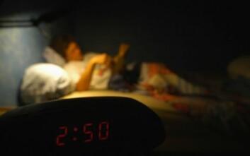 Søvnforstyrrelser kan ha mange årsaker. Nå antyder forskere at slike forstyrrelser kan være et et tidlig varsel om demenssykdom hos noen. (Illustrasjonsfoto: www.colourbox.no)
