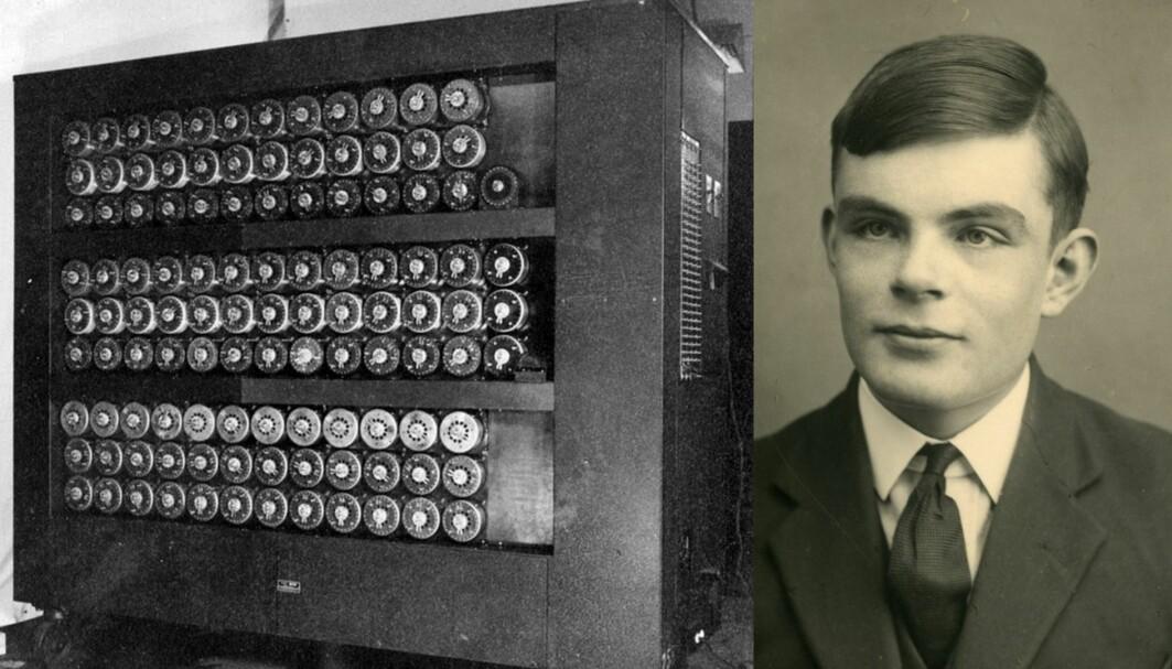 Bombe-maskinen til Alan Turing kunne knekke kodespråket i nazistenes beskjeder til hverandre.
