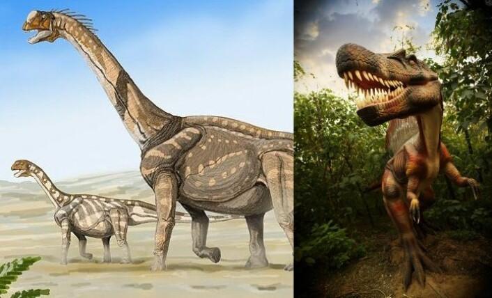Dinosaurer vises gjerne enten i ødeslettelandskaper, eller i enormt tette og frodige skoger. De fleste dinoer levde imidlertid sannsynligvis i langt mer hverdagslige omgivelser. (Foto: (Bilde: Dmitry Bogdanov/Wikimedia Commons/Istockphoto))