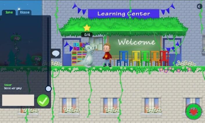 På Engelsk-planeten blir eleven ønsket Welcome til undervisningen. (Foto: (Illustrasjon: Enki))