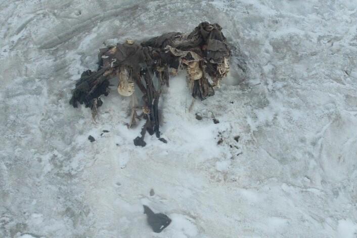 De tre Habsburg-soldatene som ble funnet på 3650 meters høyde i 2004 kan ha vært bårebærere. (Foto: Museo della Grande Guerra, Peio)