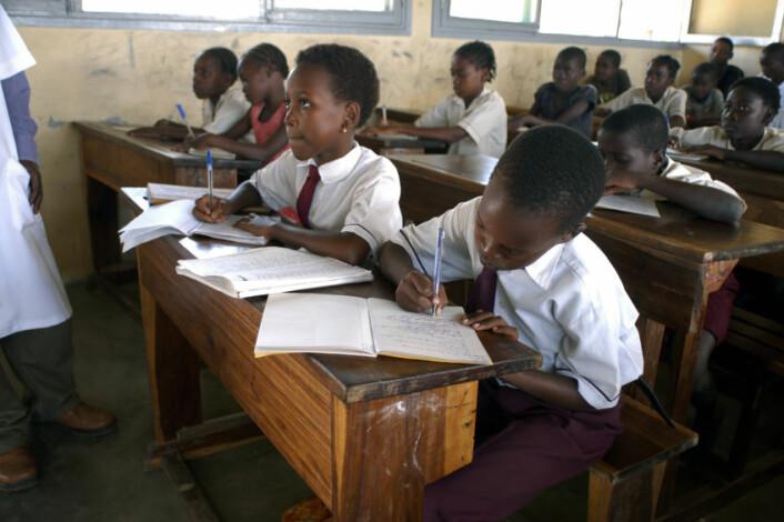 Skolebarn i Beira, Mosambik. (Illustrasjonsfoto: iStockphoto)