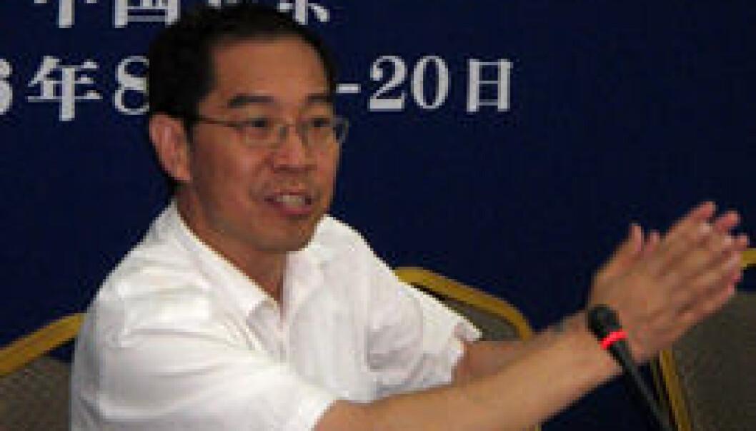 """Cai Dingjian jobber ved Juridisk fakultet ved China University of Politics and Law. (Foto: SMR, UiO)"""
