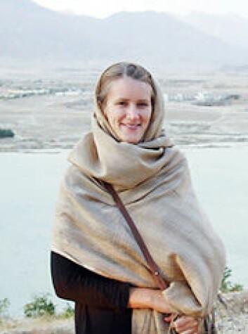 Anne Steneresen i Afghanistan. (Foto: Privat)