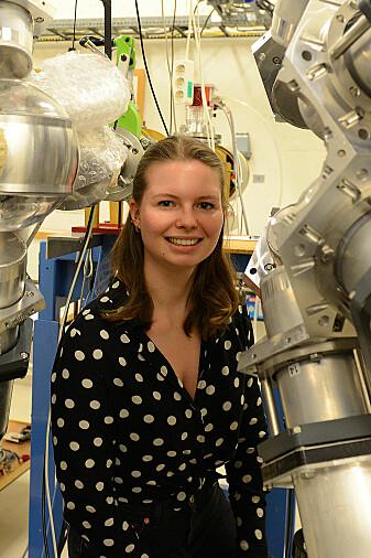 Dorthea Gjestvang på Syklotronlaboratoriet på UiO.