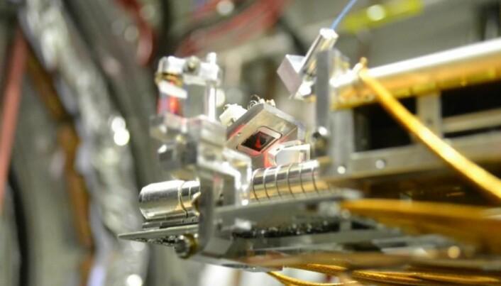 Her lages antihydrogen i eksperimentet AEgIS, i The Antimatter Factory i CERN.
