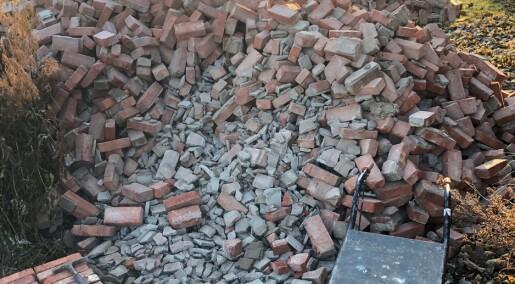 Gammel murstein skal brukes om igjen i nye bygg