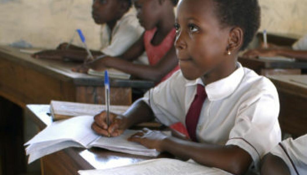Skolebarn i Beira, Mosambik. (Illustrasonsfoto: iStockphoto)