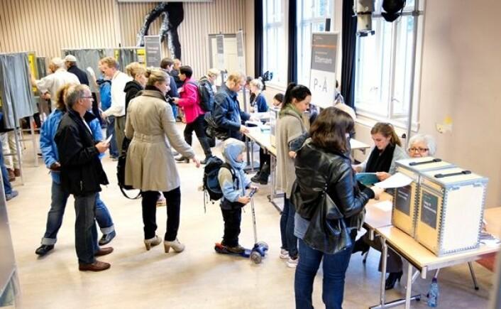 Venstresiden har fortsatt et flertall av kvinnelige velgere. (Foto: Scanpix, Gorm Kallestad)