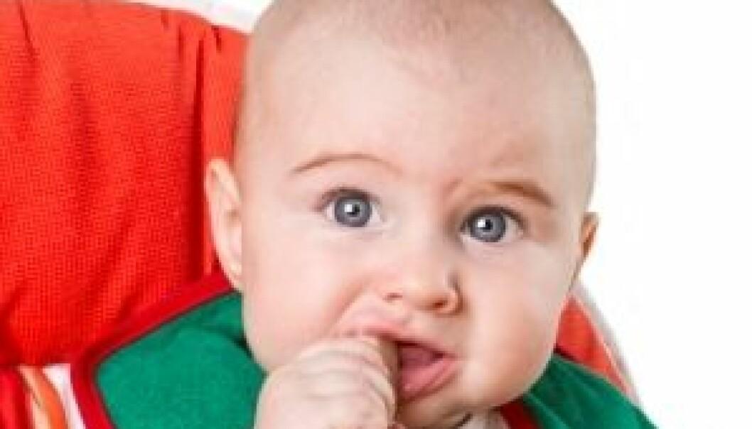 Spedbarn blir hekta på salt