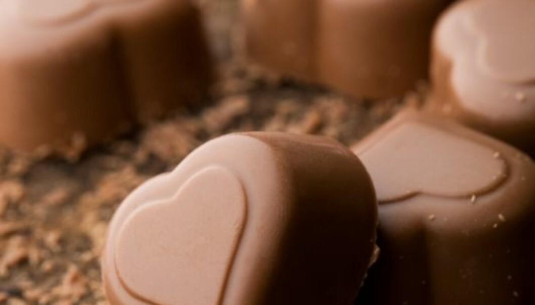 Skjokolade tenner lysten og gir lykkerus. (Colourbox